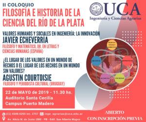 UCA Filosofía e Historia Ciencias 2019